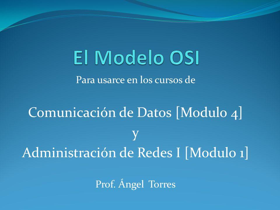 El Modelo OSI Comunicación de Datos [Modulo 4] y